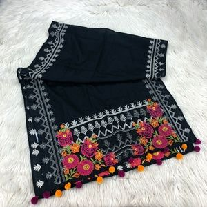 Khaadi Floral Embroidered Rectangular Scarf